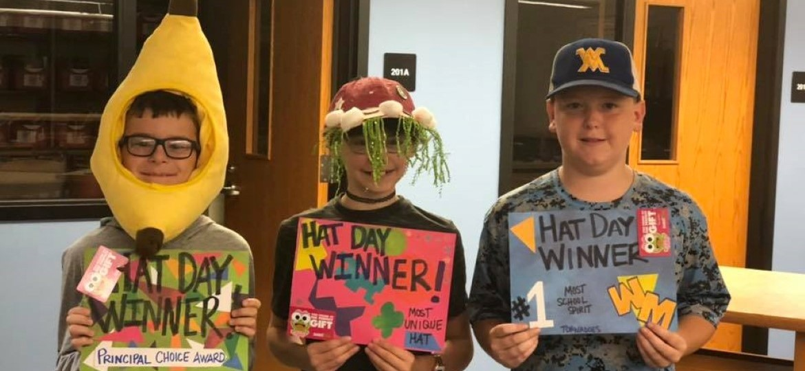 Middle School Hat Day Winners