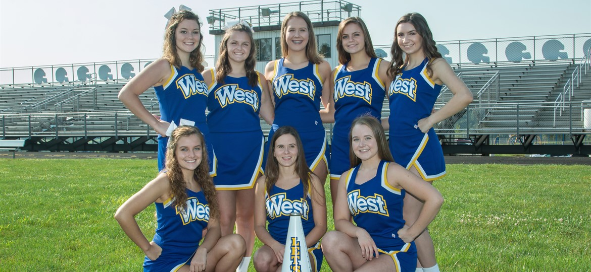 West M Varsity Cheerleaders